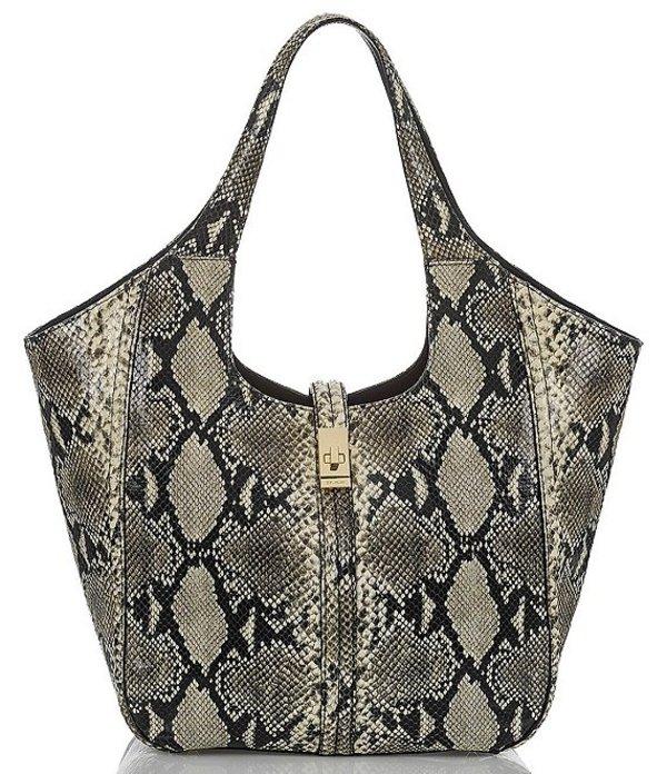 ブランミン レディース トートバッグ バッグ Caviar Felix Collection Carla Snake Skin Tote Bag Cavair