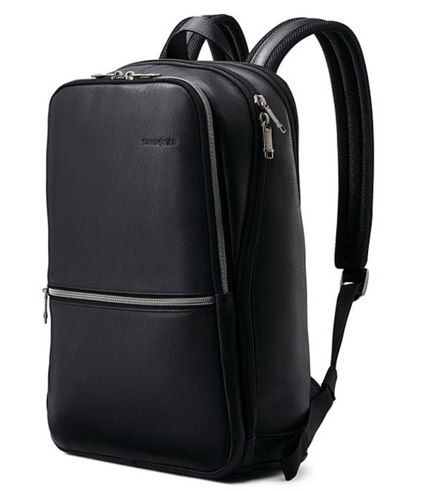 サムソナイト レディース バックパック・リュックサック バッグ Classic Leather Slim Backpack Black