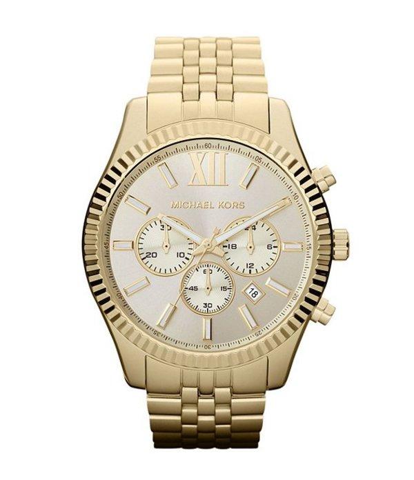 マイケルコース メンズ 腕時計 アクセサリー Lexington Stainless Steel Chronograph Bracelet Watch Gold