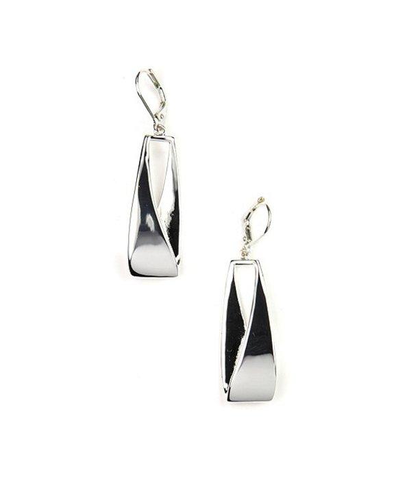 アンクライン レディース ピアス・イヤリング アクセサリー Linear Leverback Earrings Silver