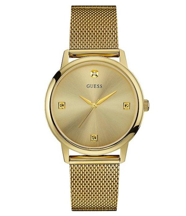 ゲス メンズ 腕時計 アクセサリー Slim Mesh Bracelet Watch Gold