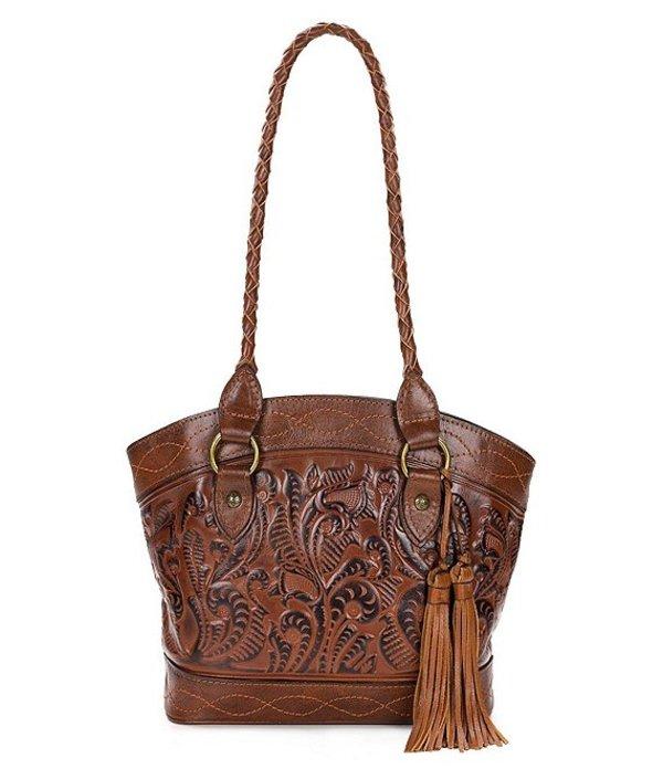 パトリシアナシュ レディース ハンドバッグ バッグ Burnished Tooled Collection Zorita Tasseled Colorblock Satchel Bag Florence