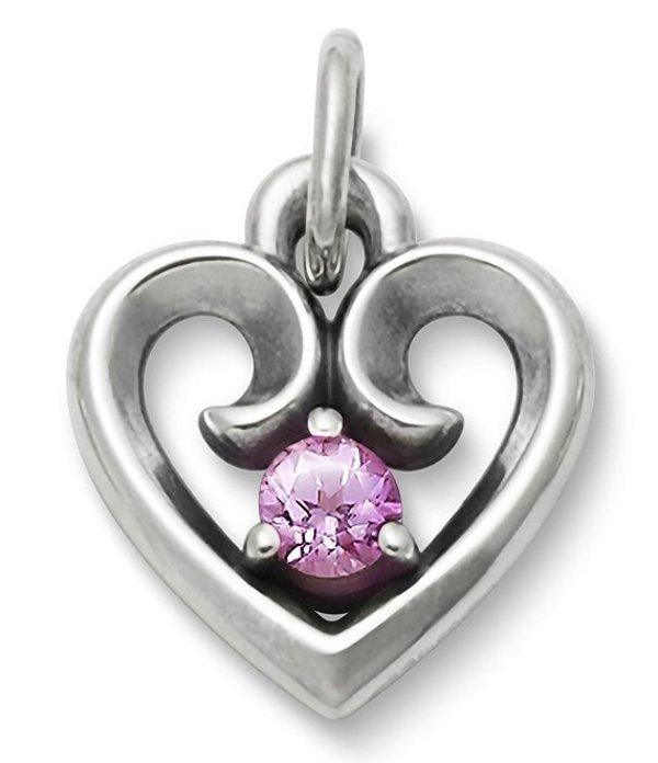 ジェームズ エイヴリー レディース ネックレス・チョーカー アクセサリー Avery Remembrance Heart Pendant October Birthstone with Lab-Created Pink Sapphire Silver/Pink