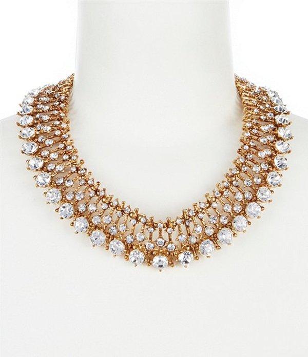 ベルバッジリーミシュカ レディース ネックレス・チョーカー アクセサリー Multi Round Faceted Collar Necklace Gold/ Crystal