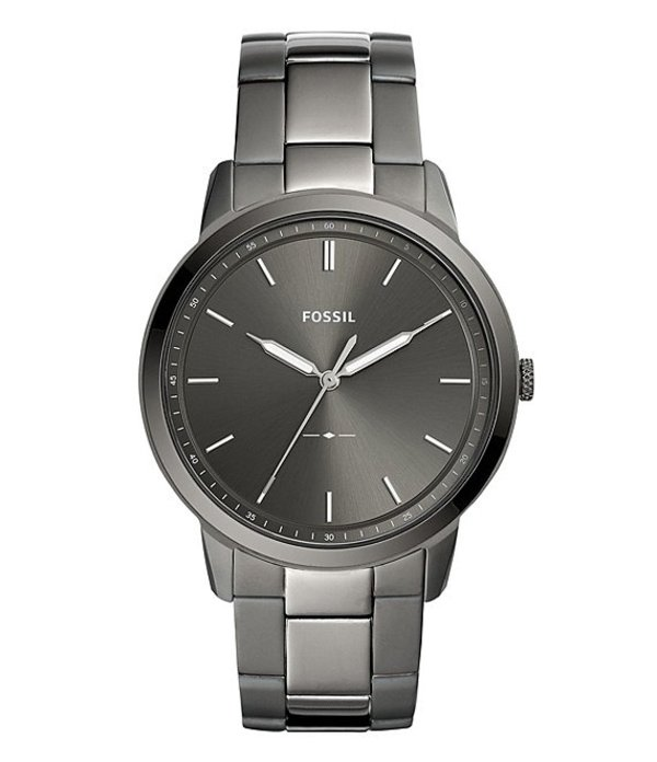 フォッシル メンズ 腕時計 アクセサリー The Minimalist Three-Hand Smoke Stainless Steel Watch Black