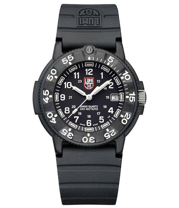 ルミノックス メンズ 腕時計 アクセサリー 3001 Quartz Navy Seal Dive Watch Black
