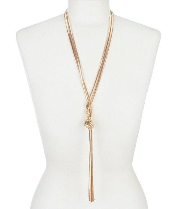 ディラーズ レディース ネックレス・チョーカー アクセサリー Snake Chain Long Y-Necklace Gold