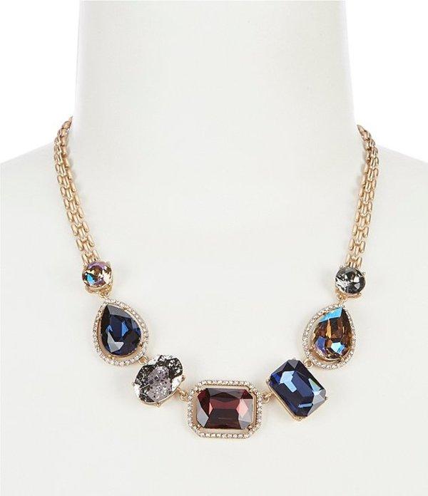 ベルバッジリーミシュカ レディース ネックレス・チョーカー アクセサリー Multi Stone Shape Frontal Necklace Gold