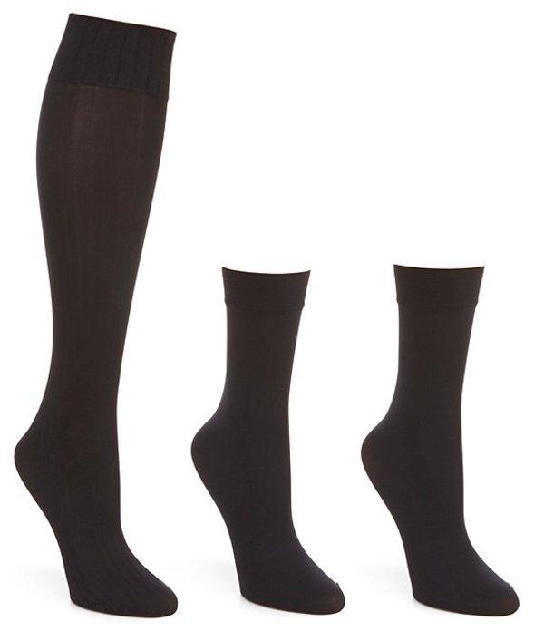 ヒュー レディース 靴下 アンダーウェア Assorted Knee Hi 4 Pack Socks Black