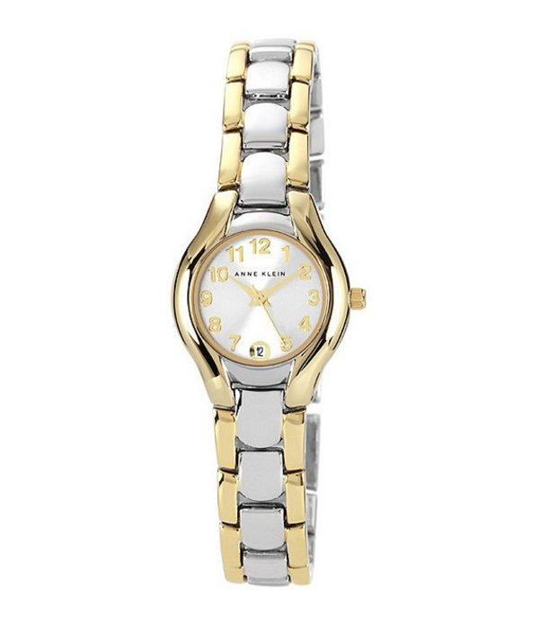 アンクライン レディース 腕時計 アクセサリー White Dial 2 Tone 2 Hand Watch Silver/Gold