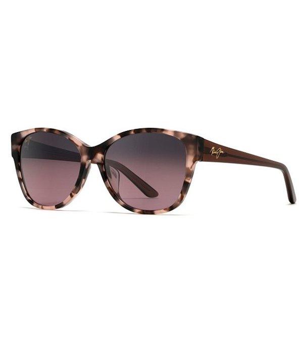 マウイジム レディース サングラス・アイウェア アクセサリー Summer Time Polarized Gradient Cat Eye Sunglasses Pink Tokyo Tortoise