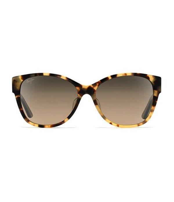 マウイジム レディース サングラス・アイウェア アクセサリー Summer Time Polarized Gradient Cat Eye Sunglasses Tortoise
