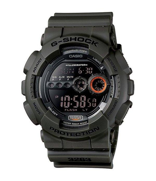 ジーショック メンズ 腕時計 アクセサリー Digital Resin-Strap Watch Green