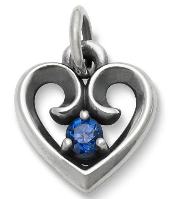 ジェームズ エイヴリー レディース ネックレス・チョーカー アクセサリー Avery Remembrance Heart Pendant September Birthstone with Lab-Created Blue Sapphire Silver/Blue