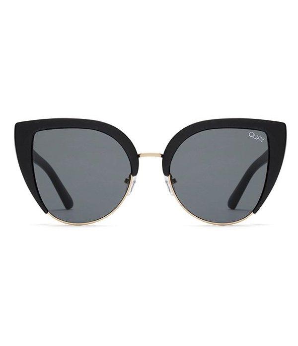 クアイオーストラリア レディース サングラス・アイウェア アクセサリー Quay Oh My Dayz Catty Sunglasses Black
