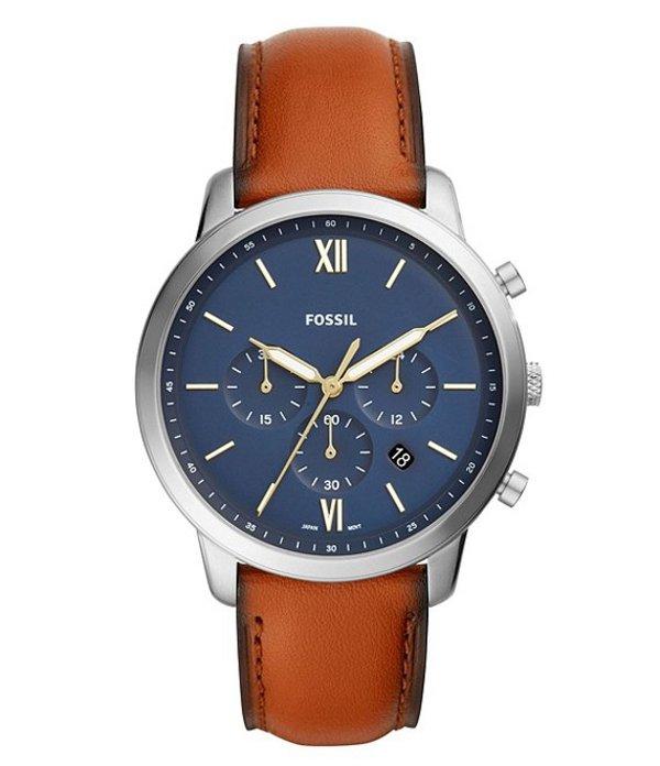 フォッシル メンズ 腕時計 アクセサリー Neutra Chronograph Brown Leather Watch Brown