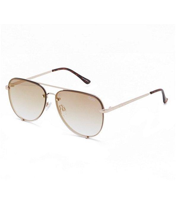 クアイオーストラリア レディース サングラス・アイウェア アクセサリー Polarized High Key Mini Sunglasses Gold Brown