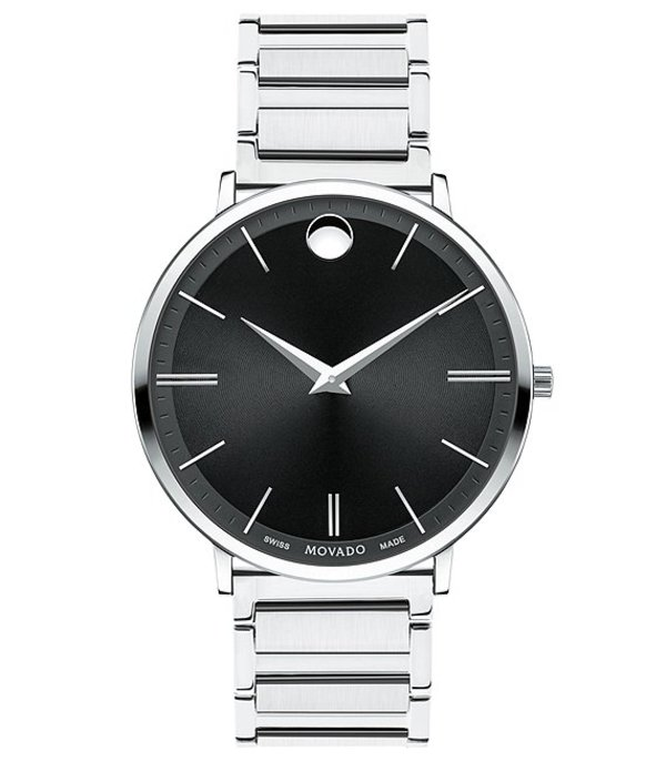 モバド メンズ 腕時計 アクセサリー Swiss Quartz Movement Ultra Slim Watch Silver