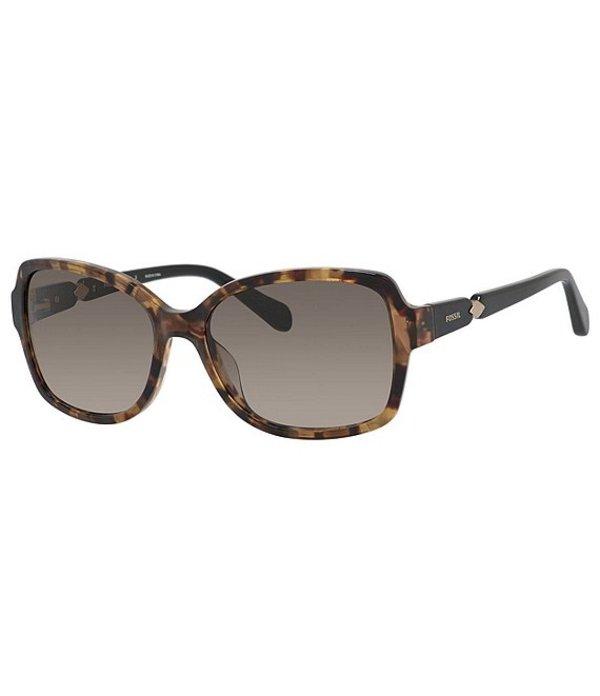 フォッシル レディース サングラス・アイウェア アクセサリー Rectangle Sunglasses Brown