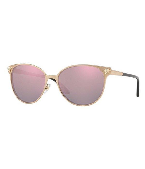 ヴェルサーチ レディース サングラス・アイウェア アクセサリー Ve2168 Rock Icon Sunglasses Pink Gold Mirror