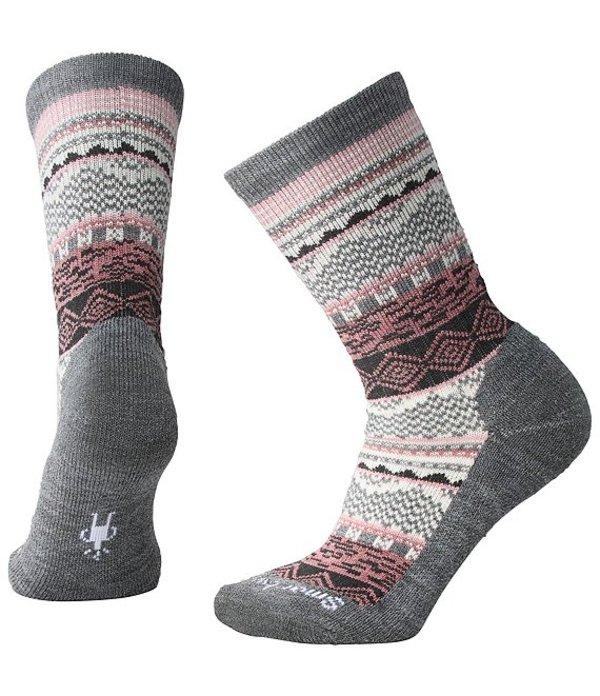 スマートウール レディース 靴下 アンダーウェア Women's Dazzling Wonderland Crew Socks Heather Grey