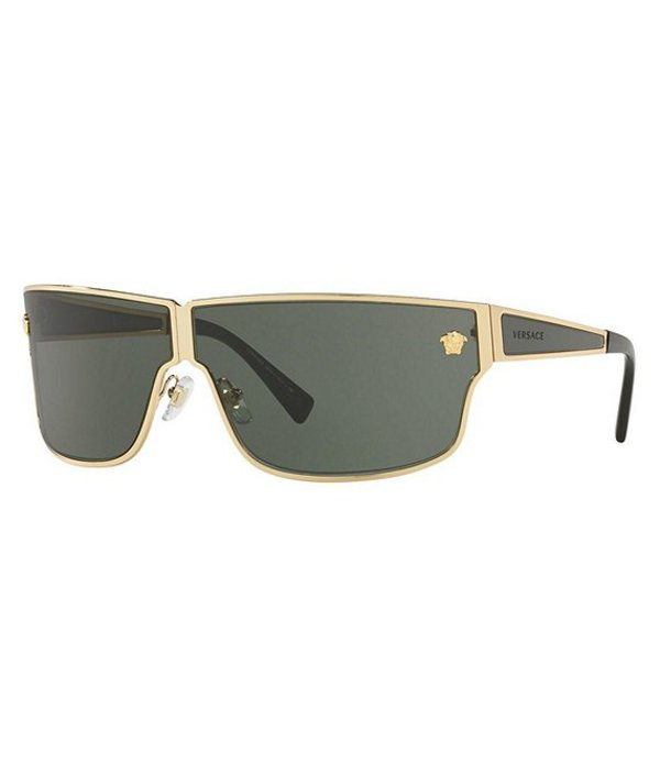 ヴェルサーチ レディース サングラス・アイウェア アクセサリー Medusa Aspis Square Sunglasses Green/Gold