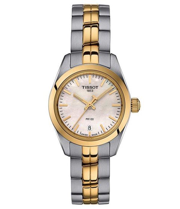 ティソット レディース ブレスレット・バングル・アンクレット アクセサリー Lady PR 100 Small Watch Two-Tone