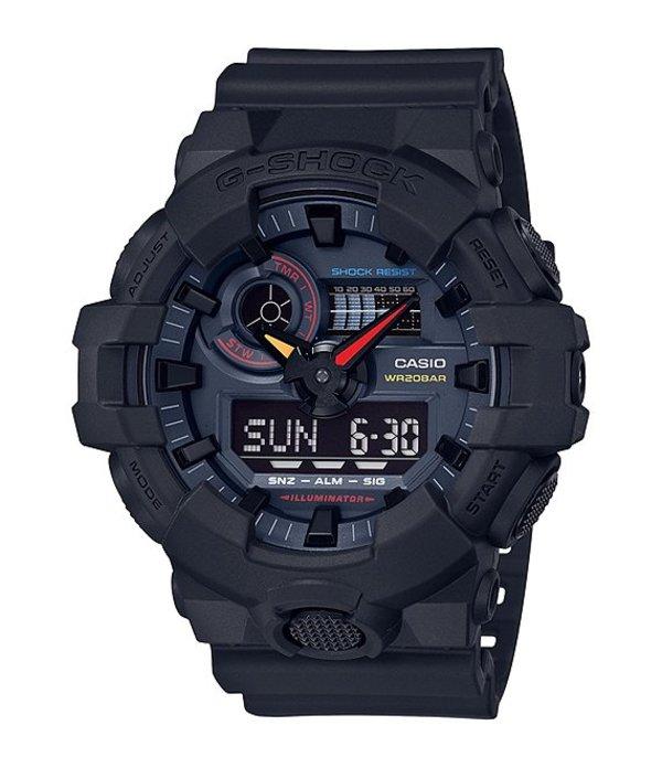 ジーショック メンズ 腕時計 アクセサリー Ana-Digi Black Multi Color Accent Watch Black