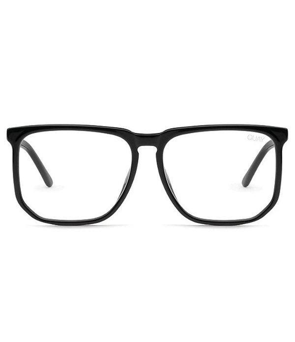 クアイオーストラリア レディース サングラス・アイウェア アクセサリー Quay #QUAYXCHRISSY Oversized Square Blue Light Glasses Black