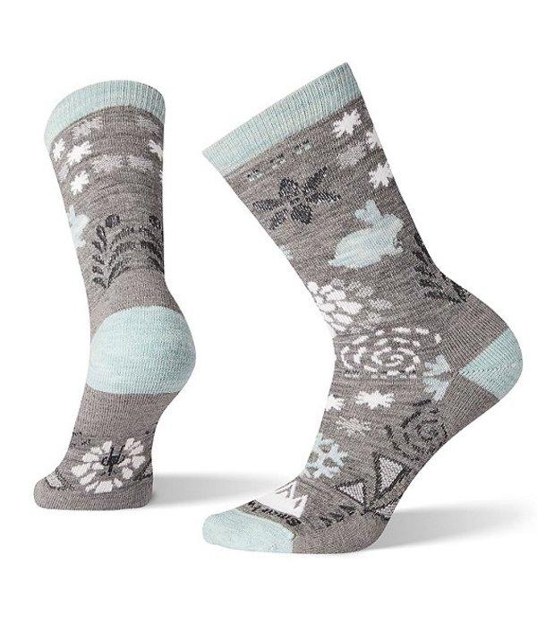 スマートウール レディース 靴下 アンダーウェア Women's Bunny Slope Crew Socks Medium Grey