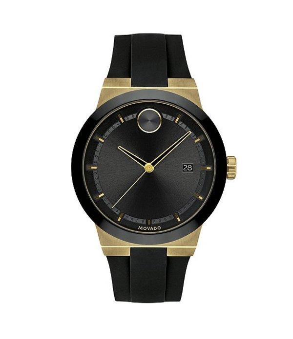 モバード メンズ 腕時計 アクセサリー Men's Black Gold Swiss Quartz Fusion Watch Black
