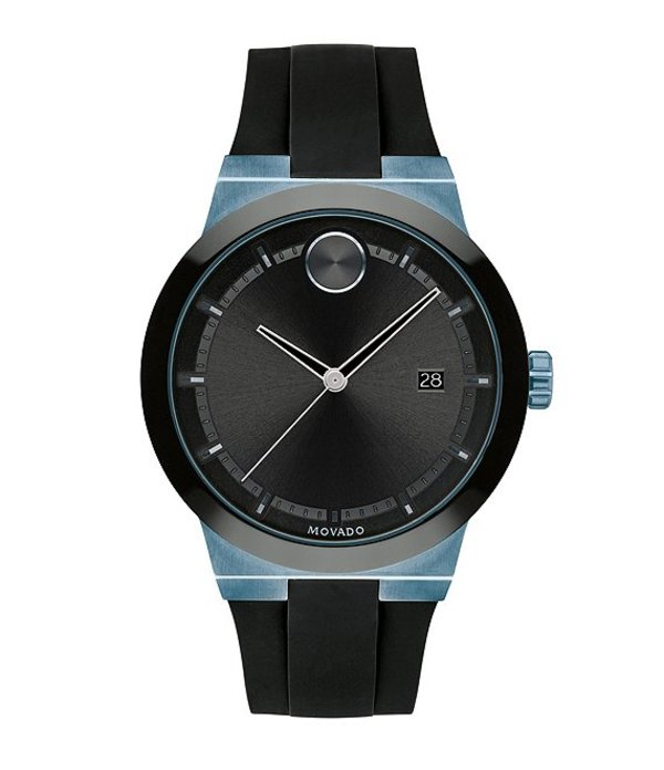 モバード メンズ 腕時計 アクセサリー Men's Black Blue Swiss Quartz Fusion Watch Black Blue