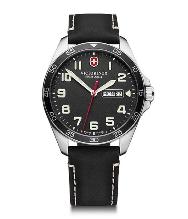 ビクトリノックス メンズ 腕時計 アクセサリー Field Force Black Strap Multifunction Watch Black