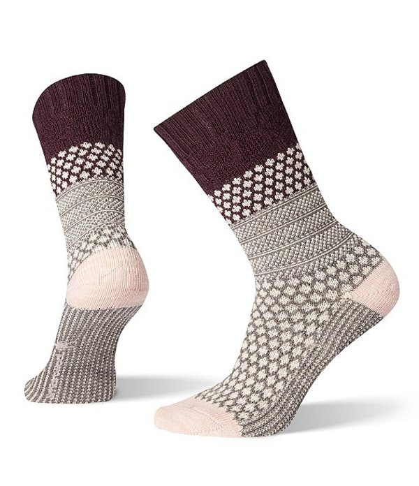 スマートウール レディース 靴下 アンダーウェア Smartwool Women's Popcorn Cable Socks Bordeaux