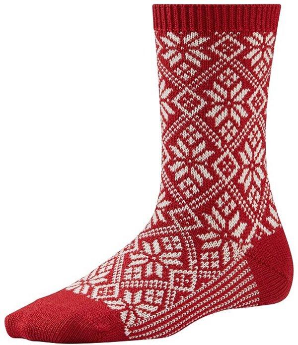 スマートウール レディース 靴下 アンダーウェア Smartwool Traditional Snowflake Crew Sock Crimson