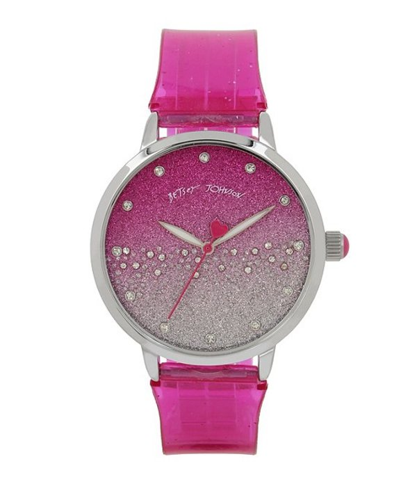 ベッツィジョンソン レディース 腕時計 アクセサリー Pink Gradient Glitter Strap Analog Watch Pink