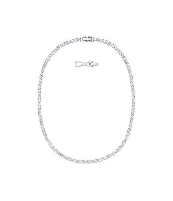 スワロフスキー レディース ネックレス・チョーカー アクセサリー Tennis Deluxe Collection Necklace White