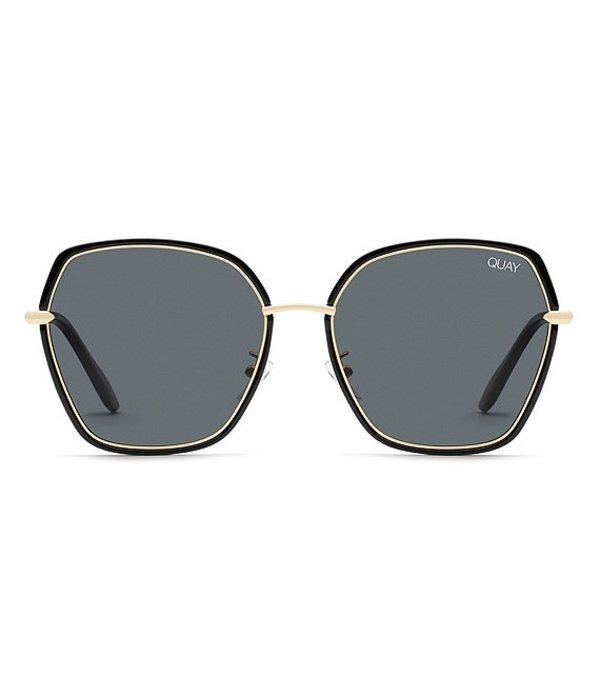 クアイオーストラリア レディース サングラス・アイウェア アクセサリー Verve Oversized Square Sunglasses Black Smoke