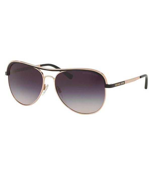 マイケルコース レディース サングラス・アイウェア アクセサリー Vivianna I Aviator Sunglasses Gold/Black