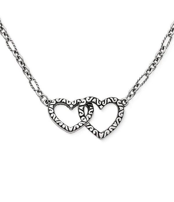 ジェームズ エイヴリー レディース ネックレス・チョーカー アクセサリー Hearts Together Necklace Silver