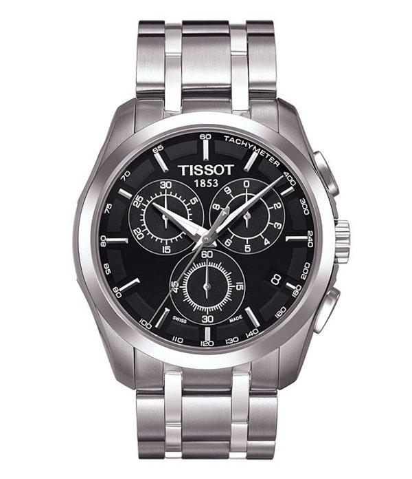 ティソット メンズ 腕時計 アクセサリー T-Classic Couturier Chronograph & Date Watch Silver