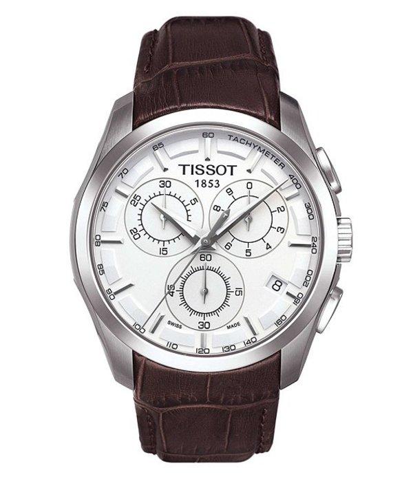ティソット メンズ 腕時計 アクセサリー Couturier Chronograph Watch Brown