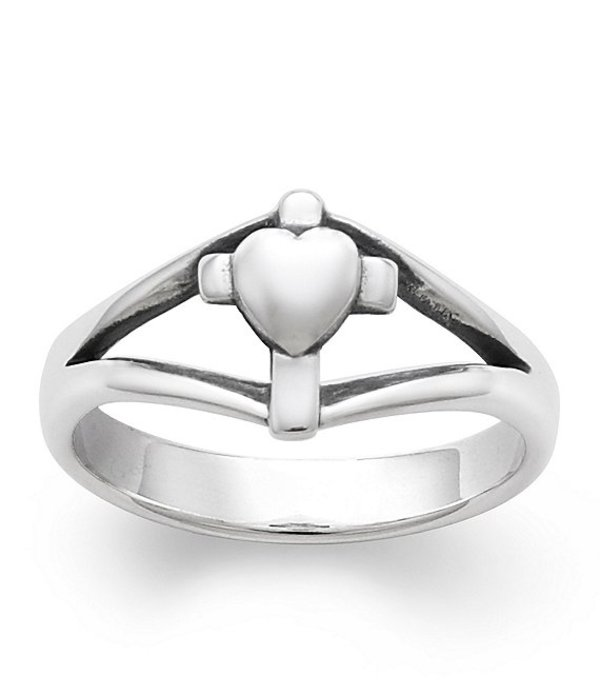 ジェームズ エイヴリー レディース 指輪 アクセサリー Cross with Heart Ring Sterling Silver
