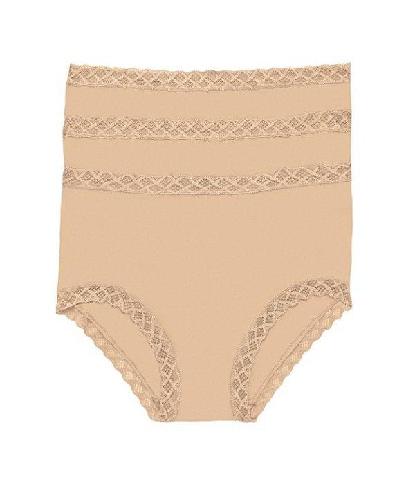 ナトリ レディース ブラジャー アンダーウェア Bliss Pima Cotton Brief Panty 3-Pack Cafe