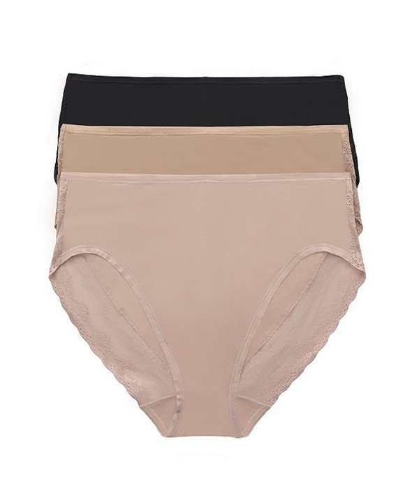 ナトリ レディース パンツ アンダーウェア Bliss Perfection French Cut Panty 3-Pack Black/Cafe/Mocha
