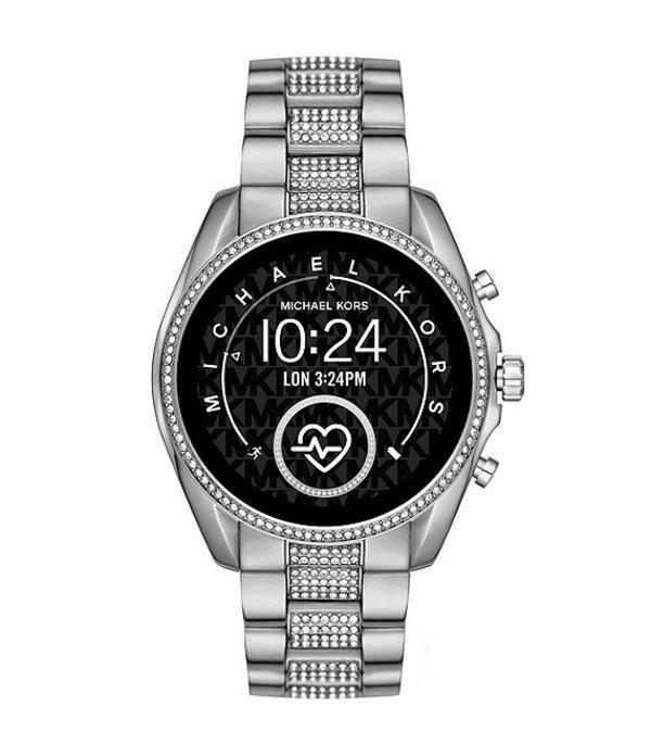 マイケルコース レディース 腕時計 アクセサリー Access Bradshaw Glitz Touchscreen Smartwatch Silver