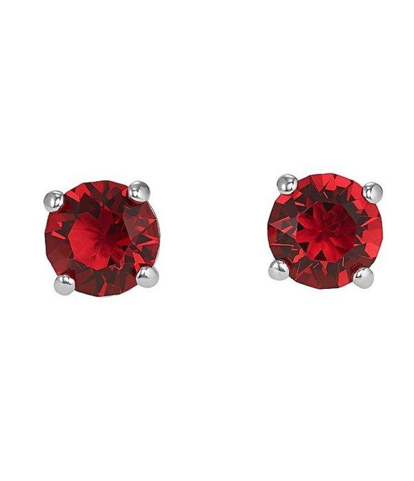 スワロフスキー レディース ピアス・イヤリング アクセサリー Attract Stud Pierced Earrings Red