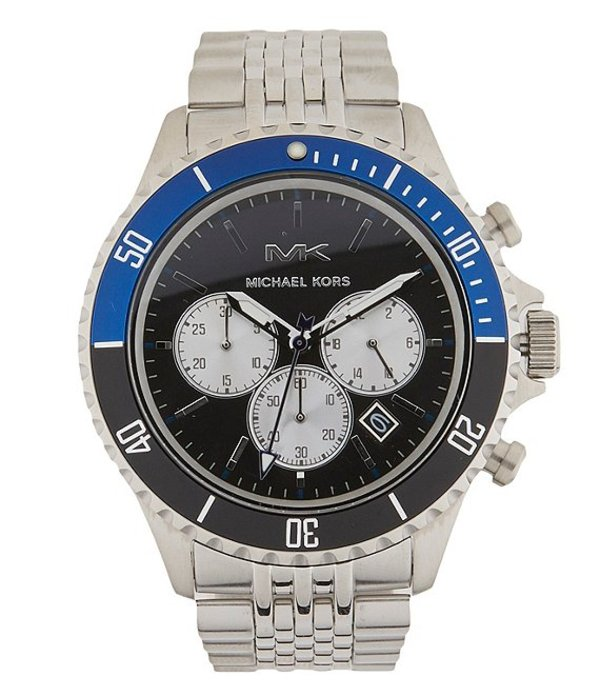 マイケルコース メンズ 腕時計 アクセサリー Men's Bayville Chronograph Stainless Steel Watch Silver