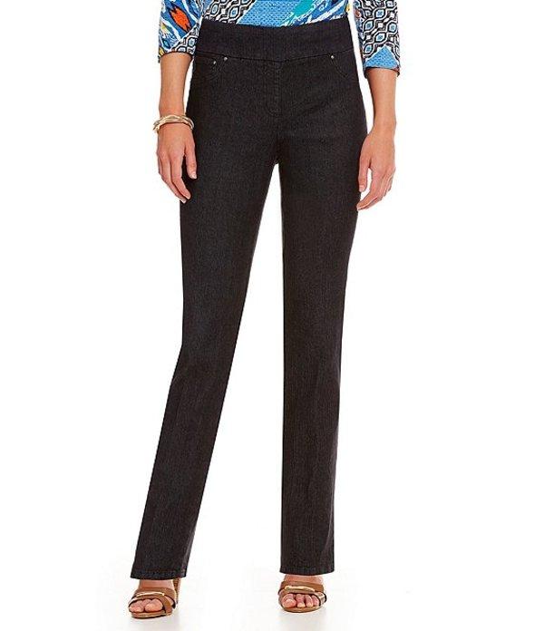 ルビーアールディー レディース デニムパンツ ボトムス Petite Pull-On Denim Jeans Black