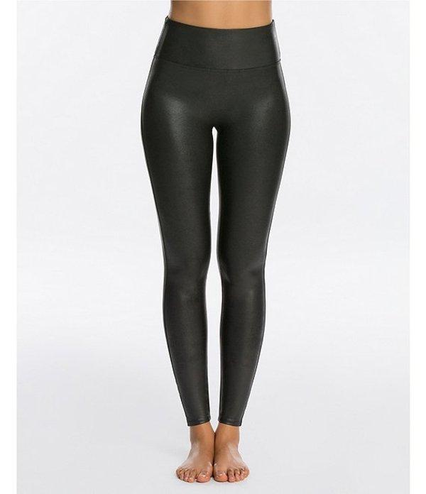 スパンク レディース カジュアルパンツ ボトムス Faux-Leather Leggings Black